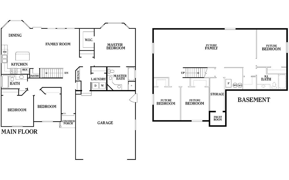 Cascade Floor Plan Fall Creek Homes